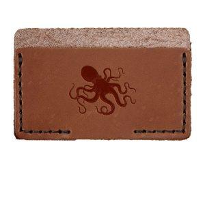 Single Horizontal Card Wallet: Octopus