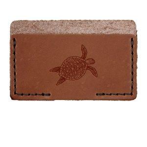 Single Horizontal Card Wallet: Sea Turtle