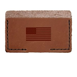 Single Horizontal Card Wallet: American Flag