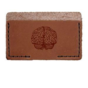 Single Horizontal Card Wallet: Brain