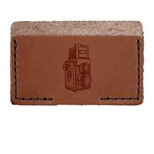 Single Horizontal Card Wallet: Twin Lens Camera