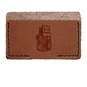 Single Horizontal Card Wallet: Twin Lens Camera