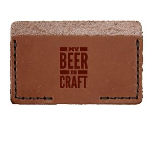 Single Horizontal Card Wallet: My Beer is Craft