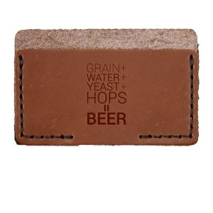 Single Horizontal Card Wallet: Beer Ingredients