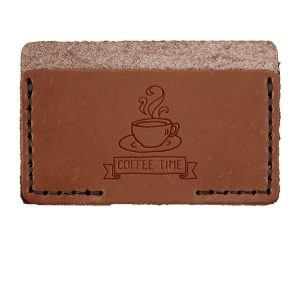Single Horizontal Card Wallet: Coffee Time