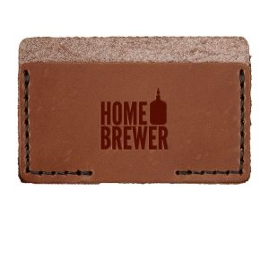 Single Horizontal Card Wallet: Home Brewer
