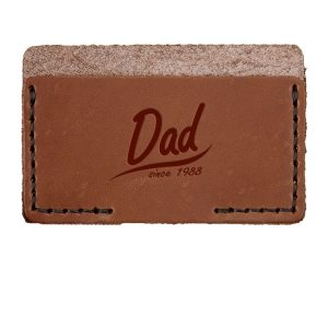 Single Horizontal Card Wallet: Dad Since