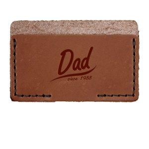 Single Horizontal Card Wallet: Dad Since