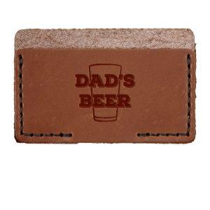 Single Horizontal Card Wallet: Dad's Beer