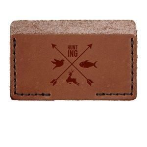 Single Horizontal Card Wallet: Hunting Cross