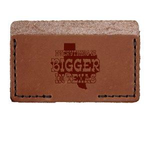 Single Horizontal Card Wallet: Bigger In TX