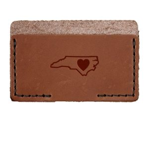 Single Horizontal Card Wallet: NC Heart