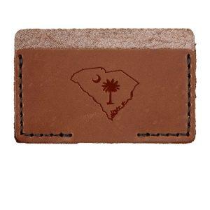 Single Horizontal Card Wallet: SC Palmetto