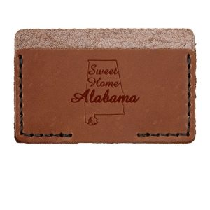 Single Horizontal Card Wallet: Sweet Home AL