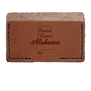 Single Horizontal Card Wallet: Sweet Home AL