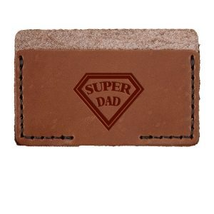 Single Horizontal Card Wallet: Super Dad