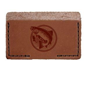 Single Horizontal Card Wallet: Fish
