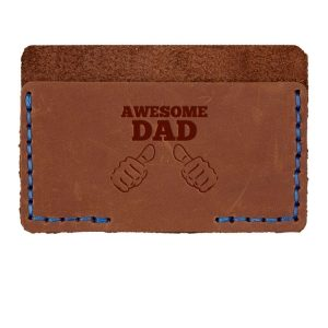 Single Horizontal Card Wallet: Awesome Dad