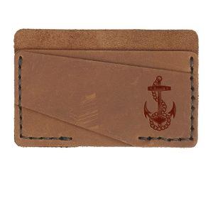 Double Horizontal Card Wallet: Anchor