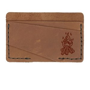Double Horizontal Card Wallet: Camp Fire
