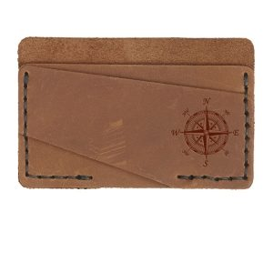 Double Horizontal Card Wallet: Compass Rose