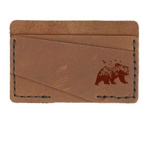 Double Horizontal Card Wallet: Mountain Bear