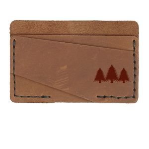 Double Horizontal Card Wallet: Pine Trees