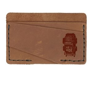 Double Horizontal Card Wallet: Travel Far & Wide