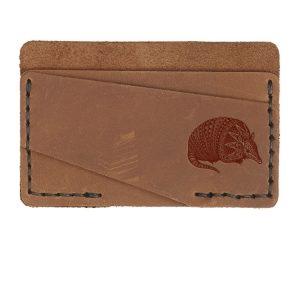 Double Horizontal Card Wallet: Armadillo