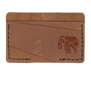 Double Horizontal Card Wallet: Elephant Mandala