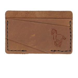 Double Horizontal Card Wallet: Horse