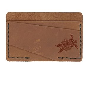 Double Horizontal Card Wallet: Sea Turtle