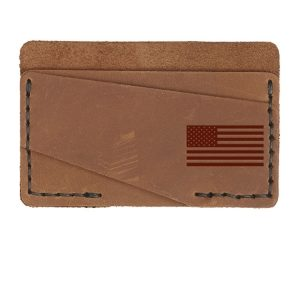 Double Horizontal Card Wallet: American Flag