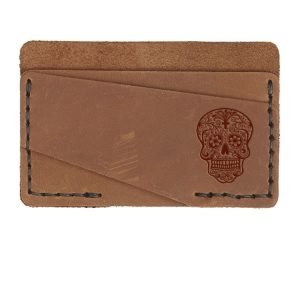 Double Horizontal Card Wallet: Candy Skull
