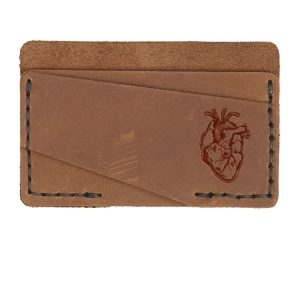Double Horizontal Card Wallet: Heart