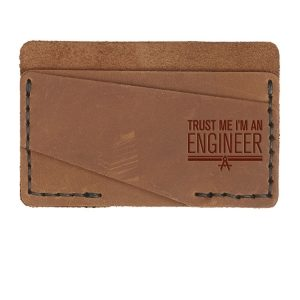 Double Horizontal Card Wallet: Trust Me ... Engineer