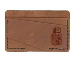 Double Horizontal Card Wallet: Twin Lens Camera