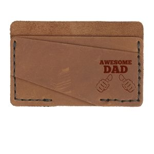 Double Horizontal Card Wallet: Awesome Dad
