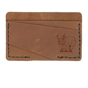Double Horizontal Card Wallet: Beer Bear