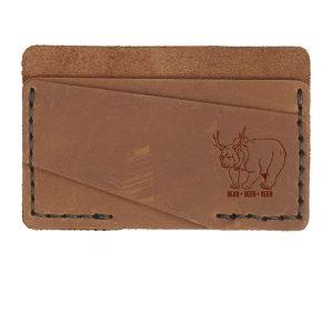 Double Horizontal Card Wallet: Beer Bear