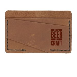 Double Horizontal Card Wallet: My Beer is Craft