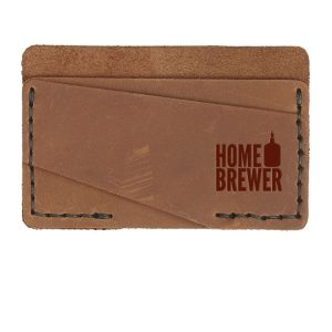 Double Horizontal Card Wallet: Home Brewer