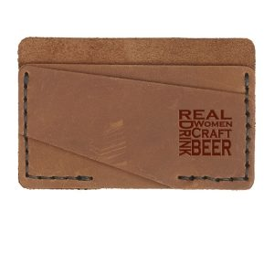 Double Horizontal Card Wallet: Real Women...Beer