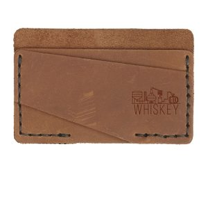 Double Horizontal Card Wallet: Whiskey