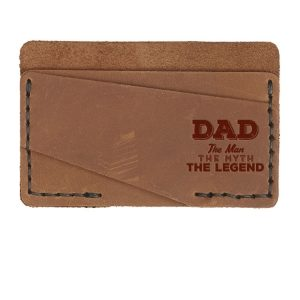 Double Horizontal Card Wallet: Dad - Man, Myth, Legend