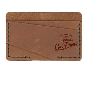 Double Horizontal Card Wallet: Go Fishing
