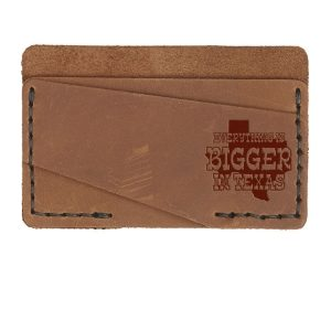 Double Horizontal Card Wallet: Bigger In TX