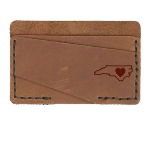 Double Horizontal Card Wallet: NC Heart