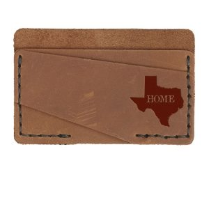 Double Horizontal Card Wallet: TX Home