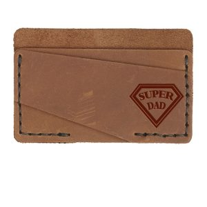 Double Horizontal Card Wallet: Super Dad